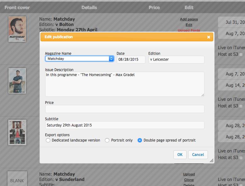 Tablish Editor showing new Properties screen