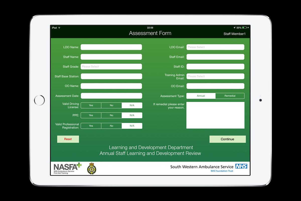 SWAST Assess App